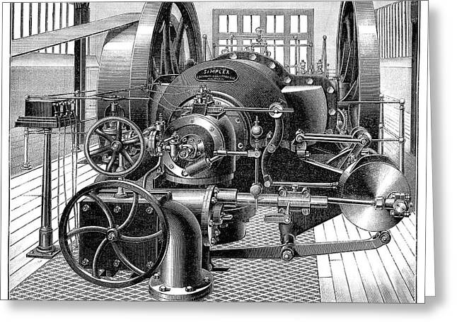 Industrial Gas Engine Greeting Card by Science Photo Library