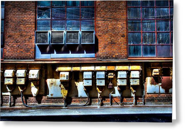 Industrial Grunge 2 Greeting Card by Mark David