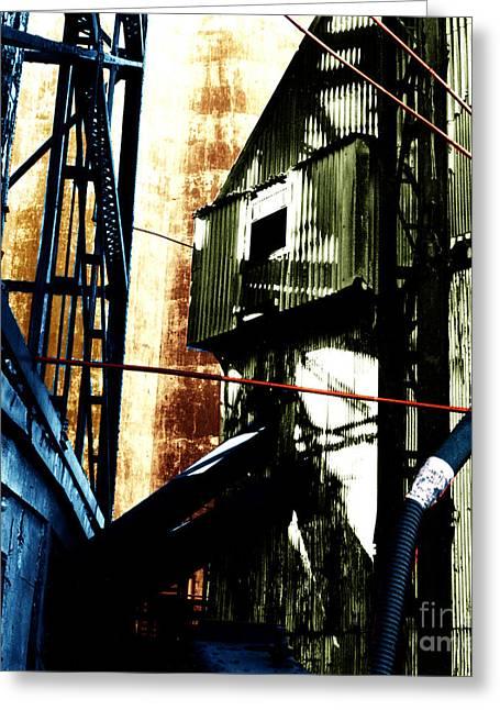Industrial Landscape Greeting Card by Sandy MacNeil