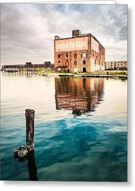 Industrial - Old Buildings - Build To Suit Greeting Card by Gary Heller