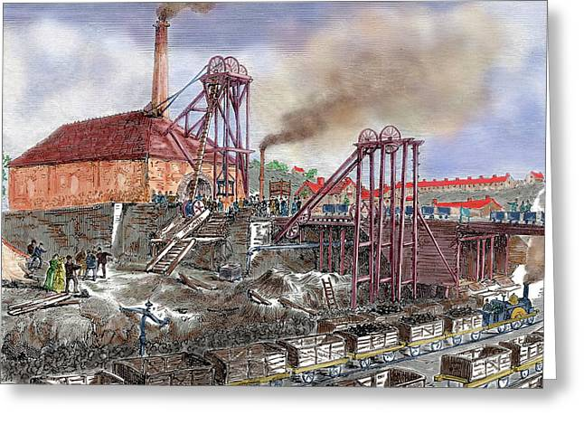 Industrial Revolution Greeting Card by Prisma Archivo