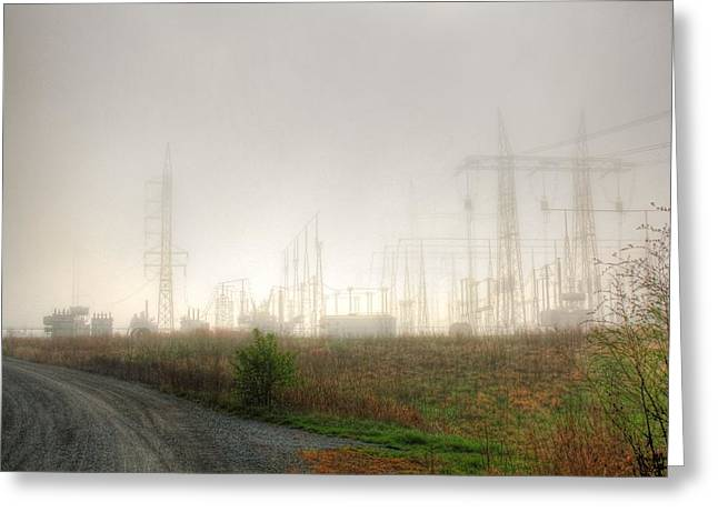 Industrial Skeleton Greeting Card by Dan Stone