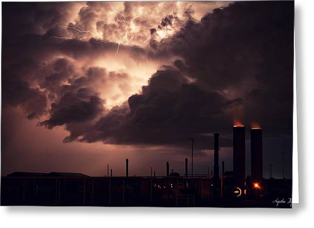 Industrial Spark II Greeting Card by Augustina Trejo