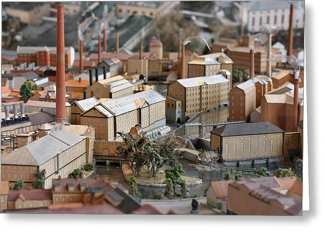 Industrial Town Miniature Model Greeting Card