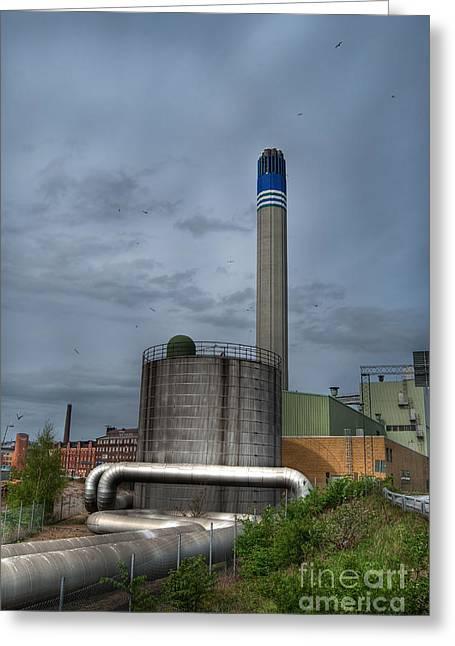 Industrial Wasteland 03 Greeting Card by Antony McAulay