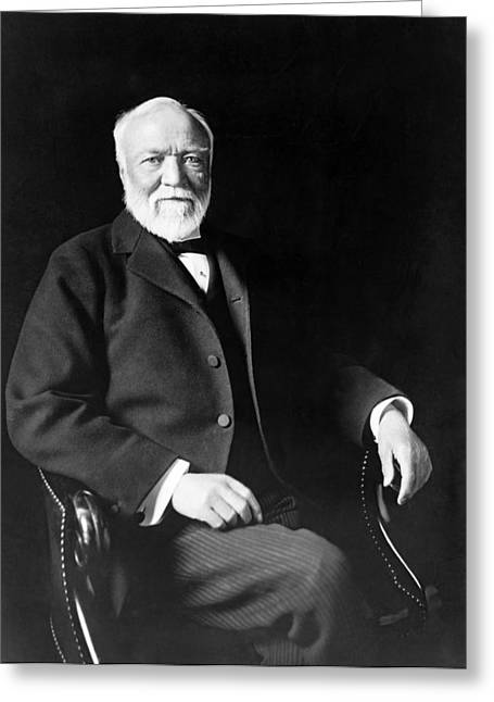 Industrialist Andrew Carnegie Greeting Card by Marceau