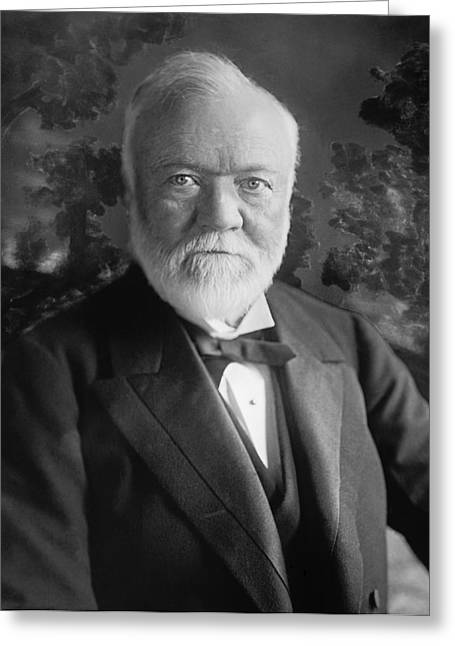 Industrialist Andrew Carnegie Greeting Card by Underwood Archives