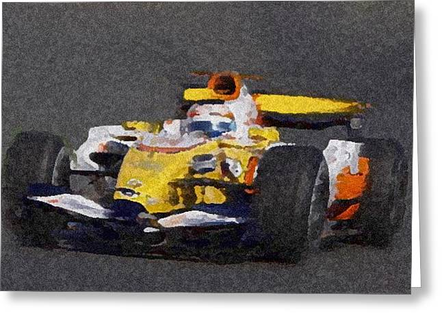Indy Car 2 Greeting Card by Dennis Buckman