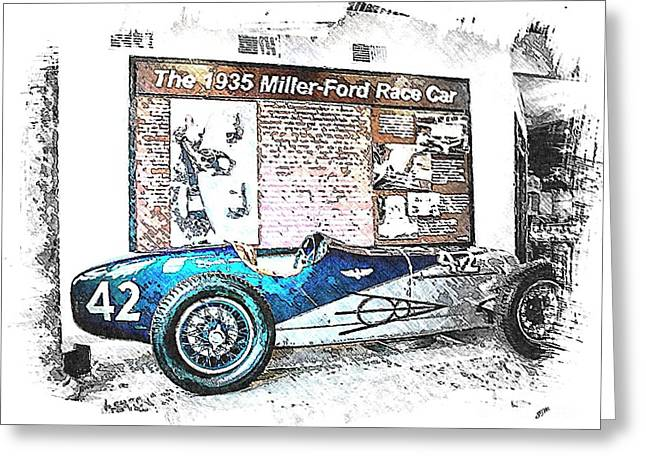 Indy Race Car 3 Greeting Card by Spencer McKain