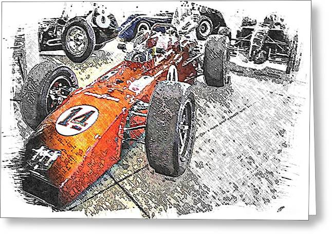Indy Race Car 4 Greeting Card by Spencer McKain