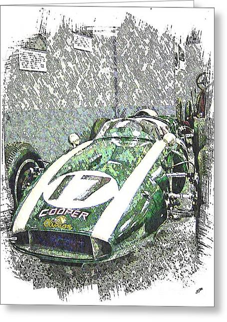 Indy Race Car 5 Greeting Card by Spencer McKain