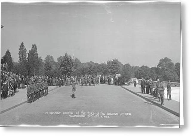 Infantry Reunion Tomb Of The Unknowns Greeting Card by Fred Schutz Collection