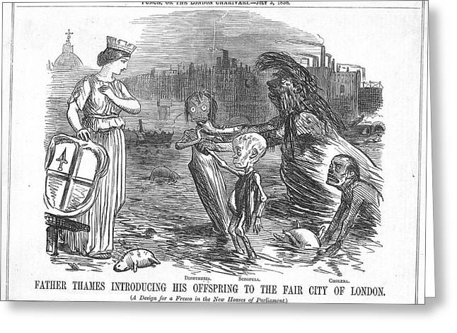 Infected Thames Water Greeting Card