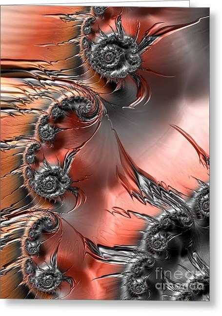 Inferno  Greeting Card by Heidi Smith