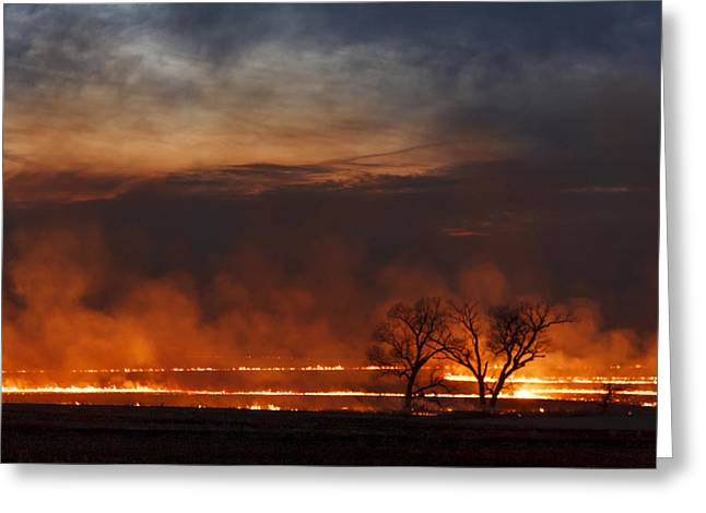 Greeting Card featuring the photograph Inferno II by Scott Bean