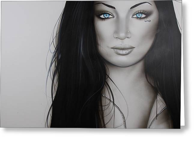 Portrait - ' Infinity ' Greeting Card by Christian Chapman Art