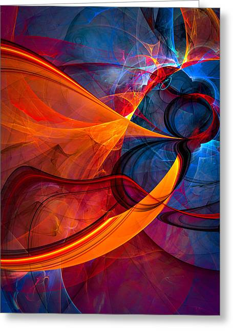 Infinity - Abstract Art Greeting Card
