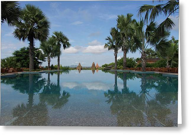 Infinity Pool Of Aureum Palace Hotel Greeting Card