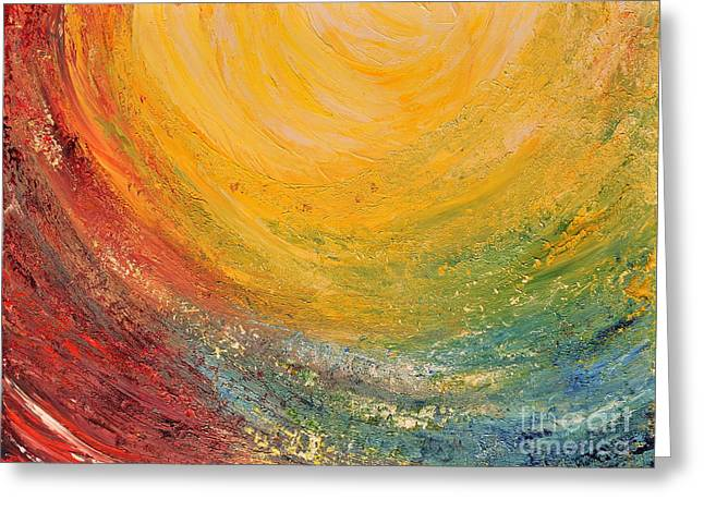 Greeting Card featuring the painting Infinity by Teresa Wegrzyn