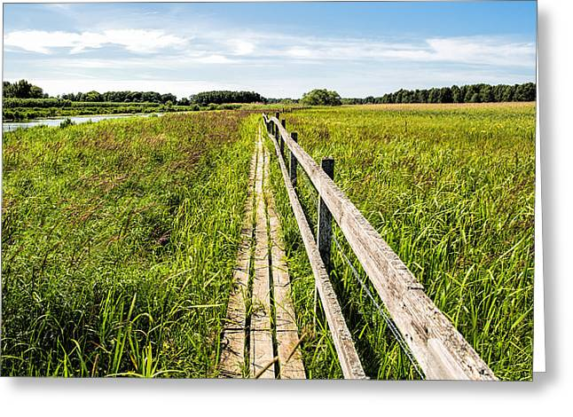 Greeting Card featuring the photograph Infinity Way by Leif Sohlman