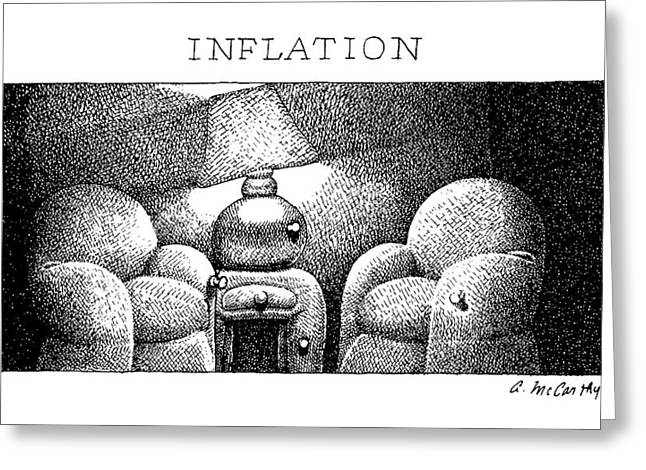 Inflation Greeting Card by Ann McCarthy