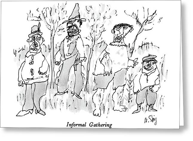 Informal Gathering Greeting Card by William Steig
