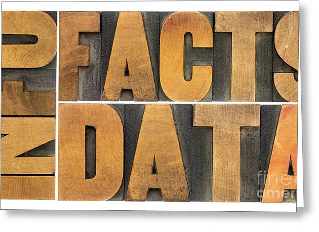 Information Data Facts Greeting Card by Marek Uliasz