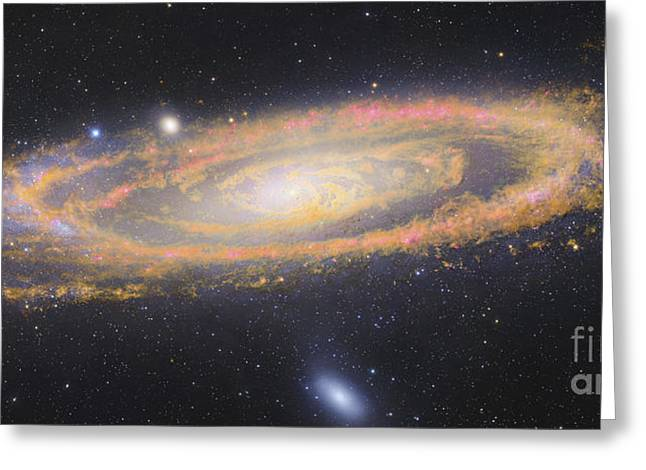 Infrared Image Of The Andromeda Galaxy Greeting Card by Robert Gendler