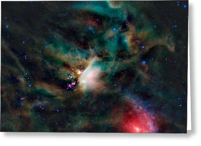 Infrared Light View Of Rho Ophiuchi Molecular Cloud  Greeting Card