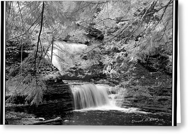 Infrared Upper Buttermilk Falls 10 Greeting Card by David Blatchley