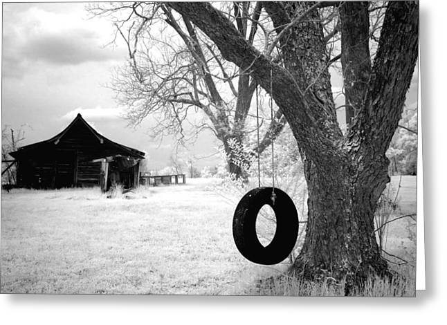 Infrared View Of Rural Alabama Greeting Card