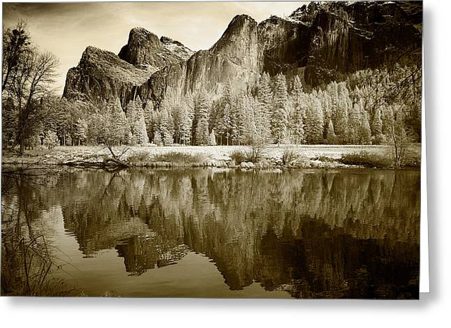 Infrared View Of Yosemite Greeting Card