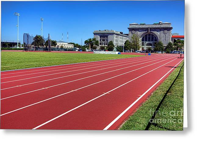 Ingram Field At Usna Greeting Card by Olivier Le Queinec