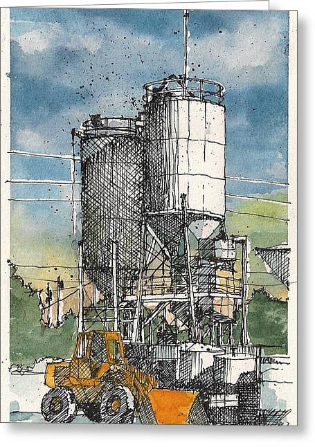 Greeting Card featuring the mixed media Ingram Plant 1 by Tim Oliver