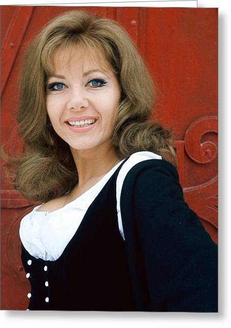 Ingrid Pitt In Where Eagles Dare  Greeting Card by Silver Screen