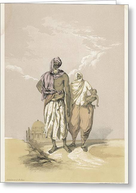 Inhabitants Of Mooltan (aka  Multan) - Greeting Card by Mary Evans Picture Library