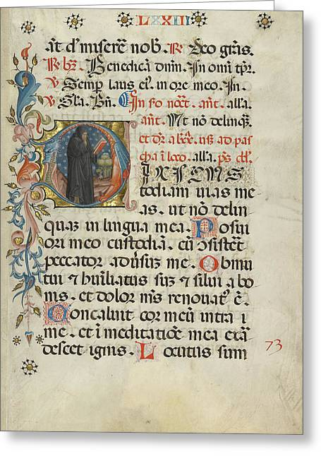 Initial D A Monk With His Finger To His Lips Unknown Italy Greeting Card by Litz Collection