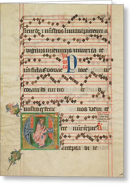 Initial E The Prophet Isaiah Circle Of The Master Greeting Card by Litz Collection