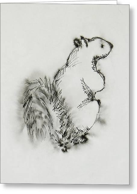 Ink Squirrel Greeting Card