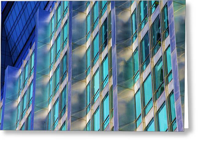 Inland Steel Building Greeting Card by Raymond Kunst