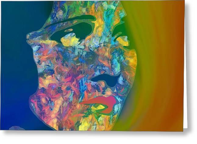 Inner Beauty Pop Art Greeting Card by Dan Sproul