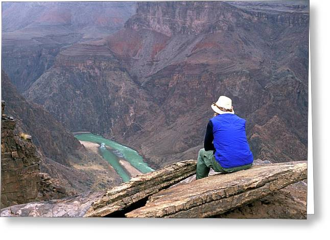 Inner Canyon And River Greeting Card
