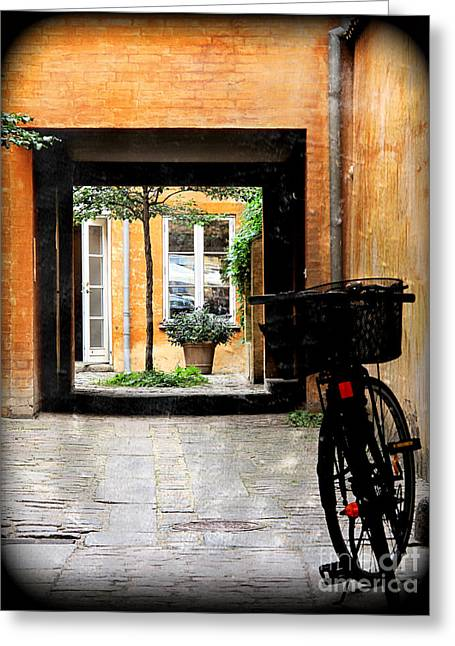 Inner Courtyard Greeting Card by Joan McCool