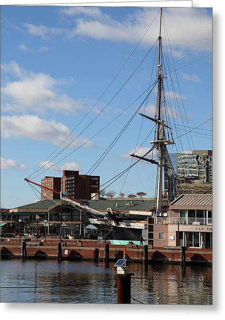 Inner Harbor At Baltimore Md - 12128 Greeting Card by DC Photographer