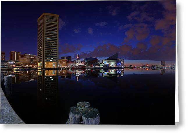 Inner Harbor At Baltimore Greeting Card by Metro DC Photography