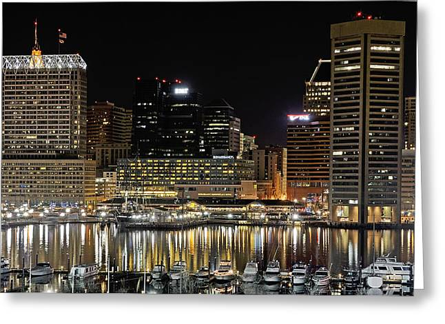 Inner Harbor - Baltimore Maryland Greeting Card