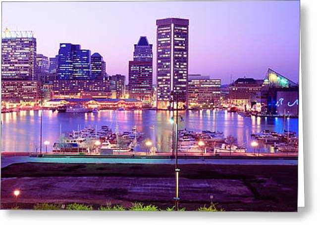 Inner Harbor, Baltimore, Maryland, Usa Greeting Card by Panoramic Images