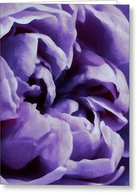 Lavender Motive Greeting Card by Jean OKeeffe Macro Abundance Art