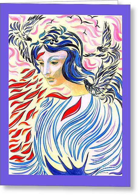 Inner Peace Greeting Card by Jane Small