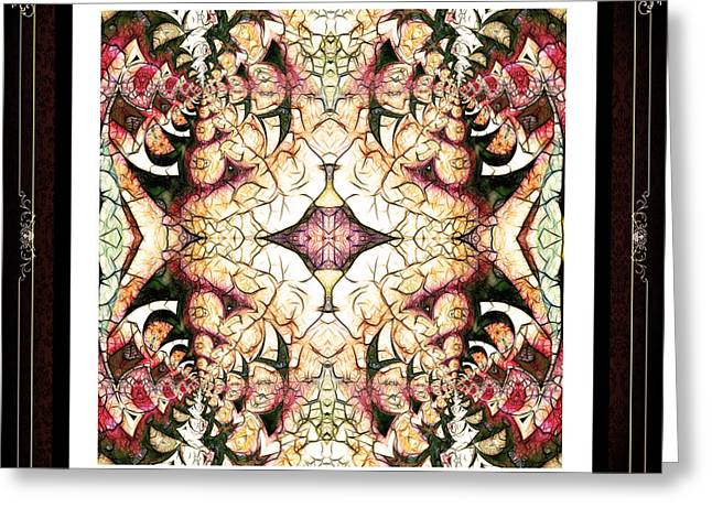 Inner Peace Mandala Greeting Card by Georgiana Romanovna